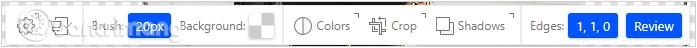 Một số công cụ trên ClippingMagic để tinh chỉnh hình ảnh
