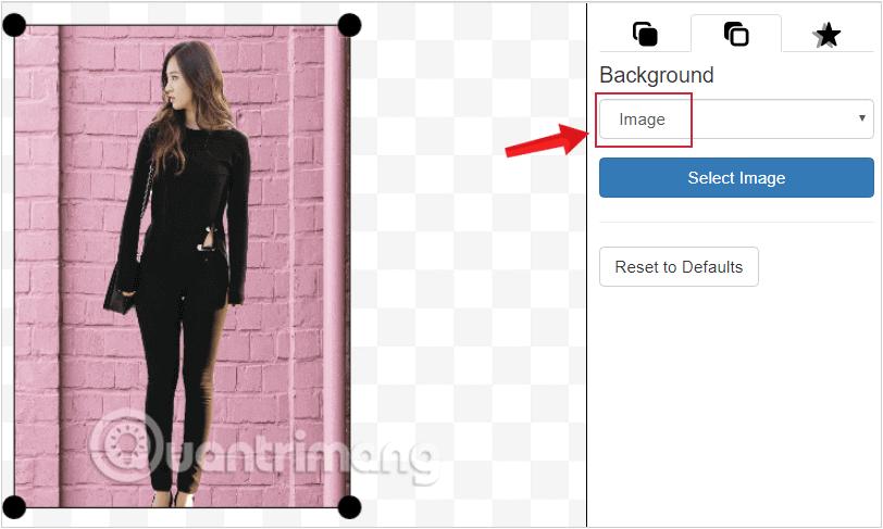Ứng dụng cho phép thay nền background bằng một hình ảnh khác