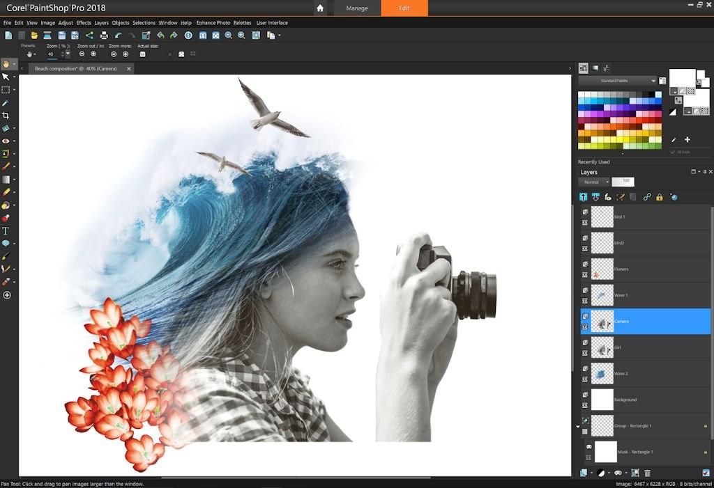 Corel PaintShop Pro - các phần mềm photoshop