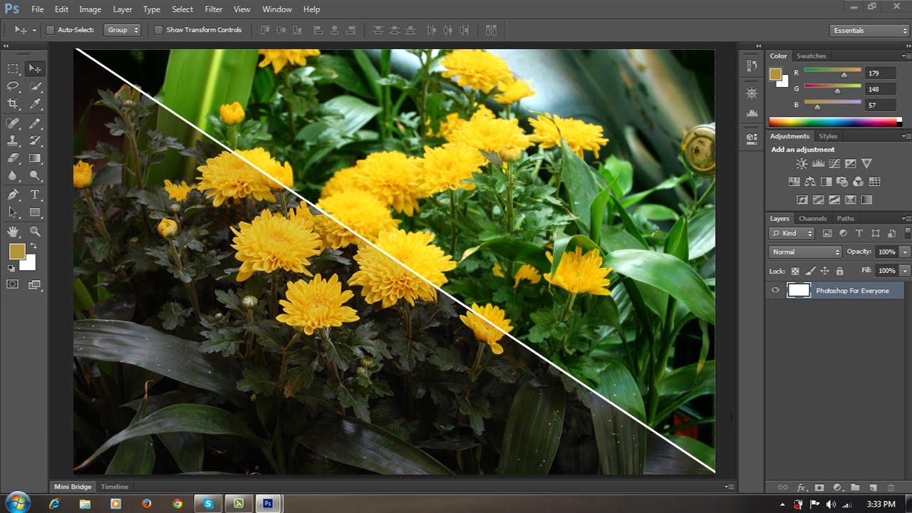 Photoshop CS6: Chỉnh sửa màu sắc hình ảnh bằng lệnh color balance - YouTube