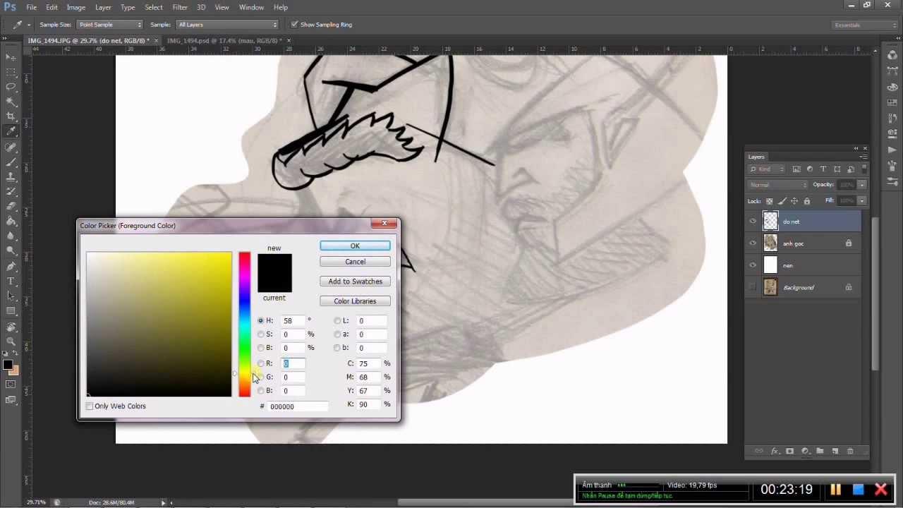 Hướng dẫn đồ lại hình vẽ trên giấy bằng photoshop - Dota2vn