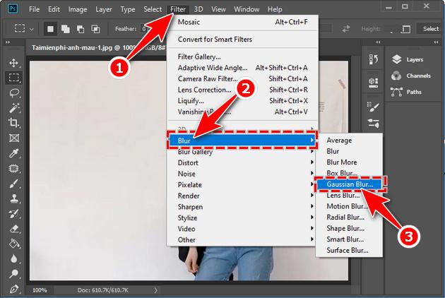 Cách che mặt trên ảnh bằng Photoshop CC 2020, CS6, làm mờ hay nhòe mặt