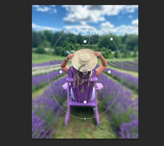 Giao diện chỉnh sửa trên công cụ Iris Blur