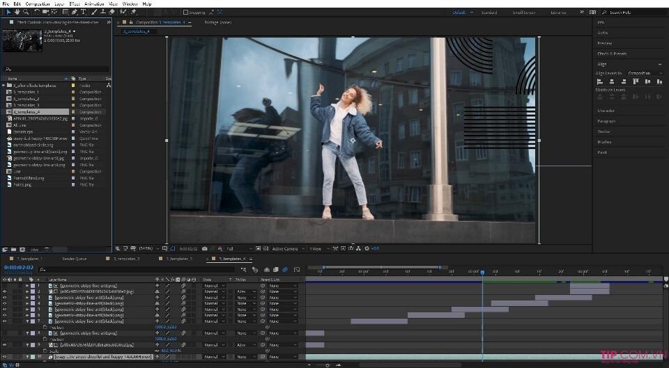 Phần mềm làm video Adobe After Effect