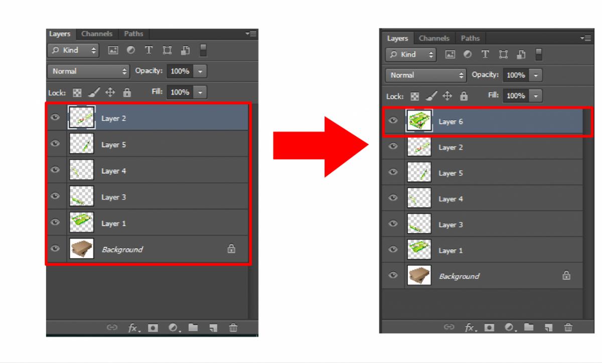 Phím tắt gộp layer trong Photoshop - sinhvientot.net