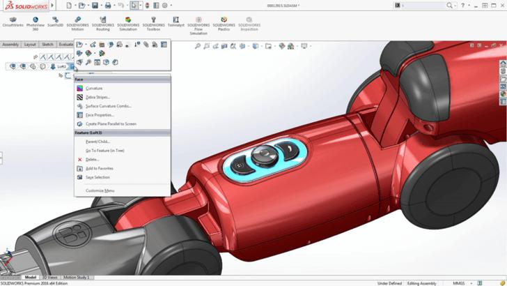 sử dụng phần mềm 3d SolidWorks