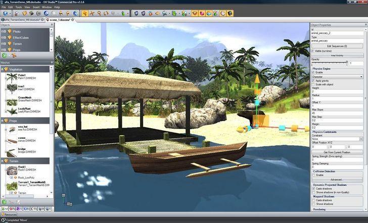 Sử dụng phần mềm DX Studio thiết kế 3D