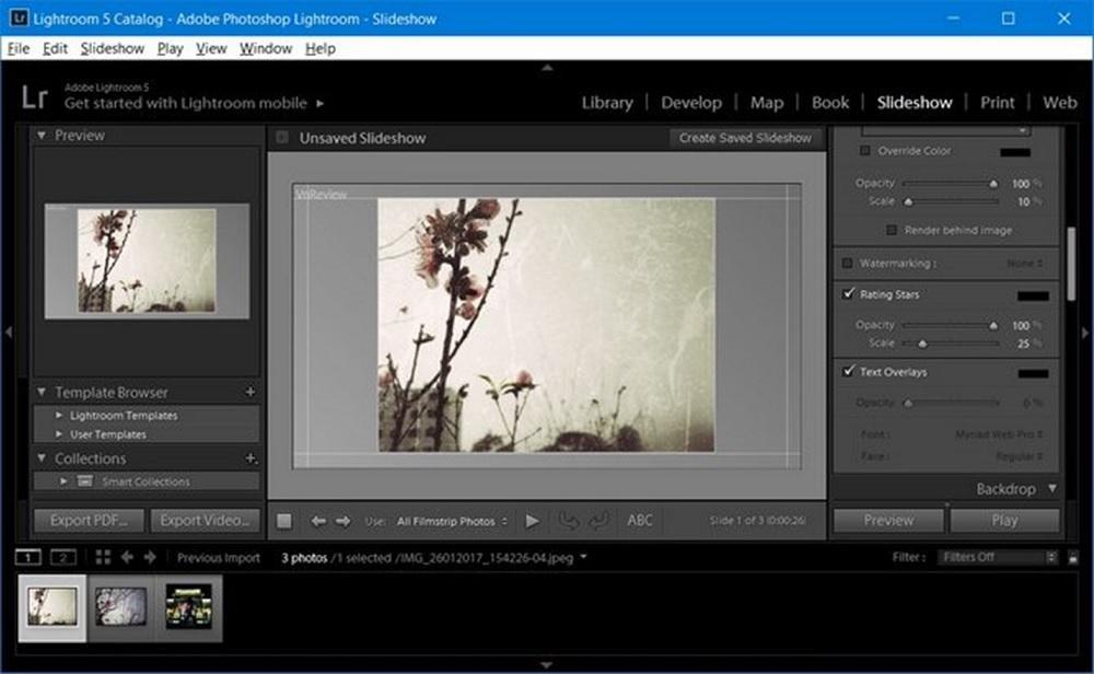 Phần mềm Adobe Lightroom