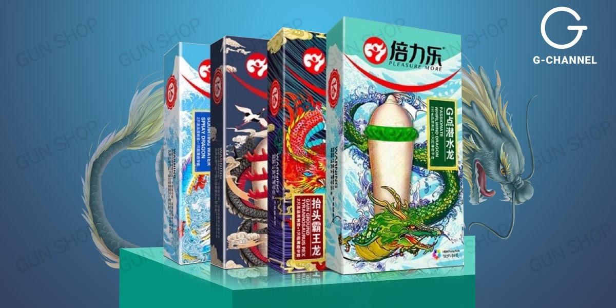 Bao cao su gai Dragon với 4 mẫu gai bi lớn